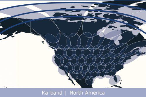 Anik F2 Ka-band North America spot beams