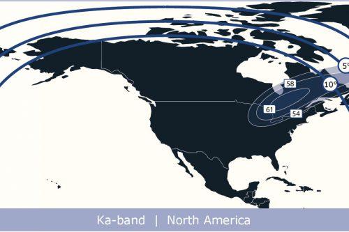 Anik F3 Ka-band North America beam