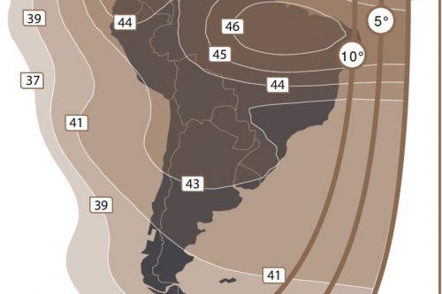 Anik G1 C-band South America beam