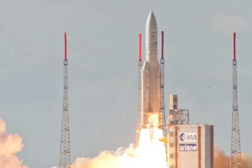 Ariane 5 lifting Alphasat & INSAT-3D