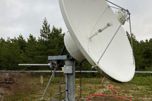 Andrew 3.7m Earth Station Antenna Ku-band RxTx motorized