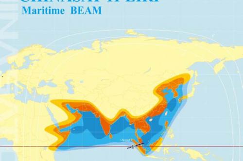 ChinaSat-11 Maritime beam EIRP