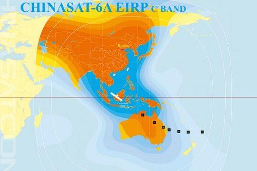 ChinaSat-6A C-band China & Oceania EIRP beam