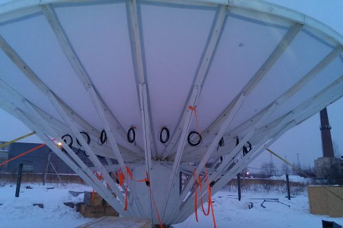 De-icing pads for RSI 9.2m antenna