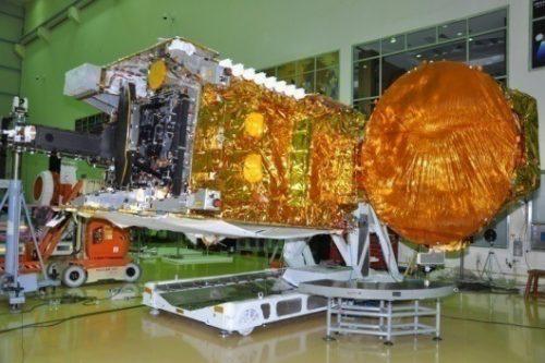 GSAT-12 satellite under construction