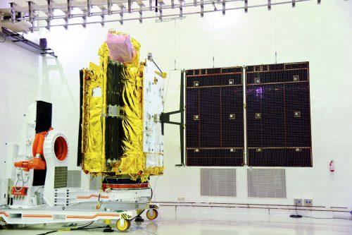 GSAT-6 solar panel deployment