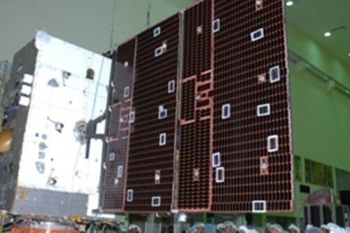 GSAT-7 satellite under construction