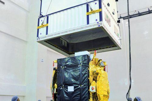 GSAT-17 satellite readies for transport