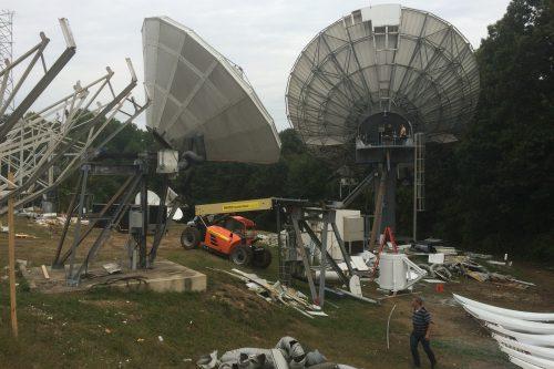 RSI 16.4m antenna de-installed
