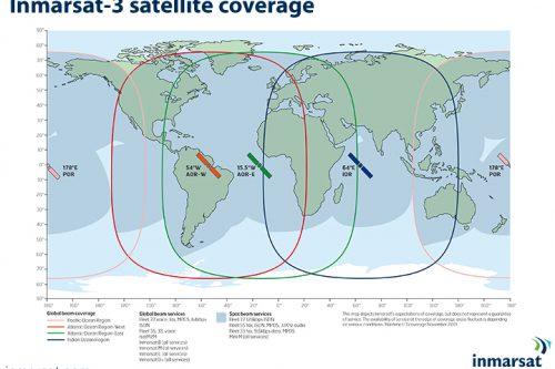 Inmarsat-3 satellite coverage map (Nov 2013)