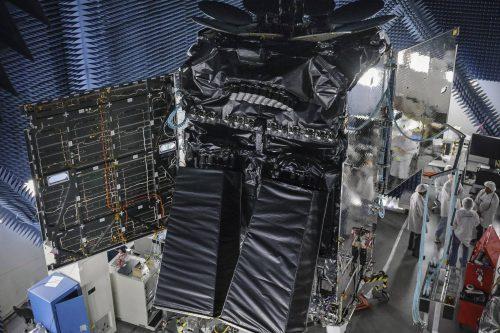 Inmarsat-5 F4 satellite under construction