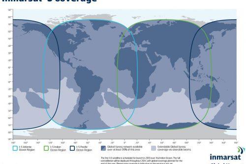 Inmarsat-5 Ka-band coverage map