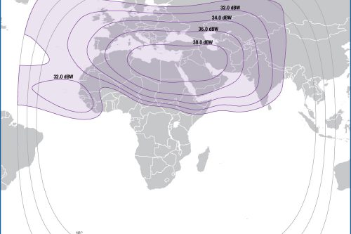 Intelat Galaxy-25 (Telstar-5) C-band Europe/Middle-East/Central Asia beam