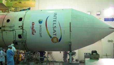 Intelsat-18 encapsulated on Zenit 3SLB