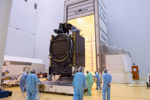 Spaceway 2 readied at Arianespace