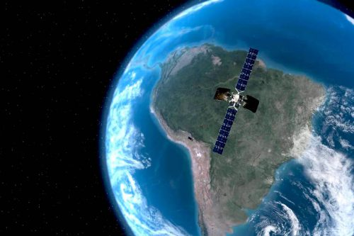 Intelsat-34 satellite in orbit