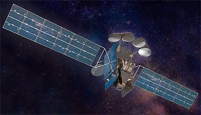 Intelsat-40e satellite in orbit