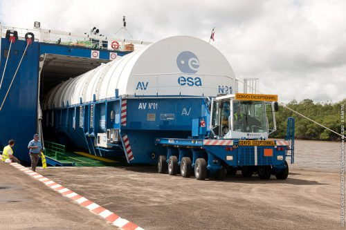 Galaxy-11 satellite arrives at French Guyana