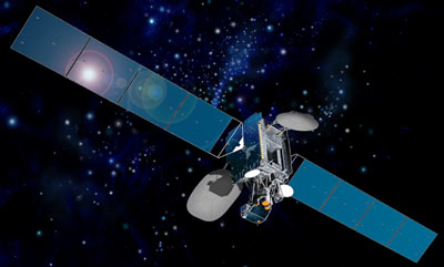 Intelsat-906 satellite in orbit