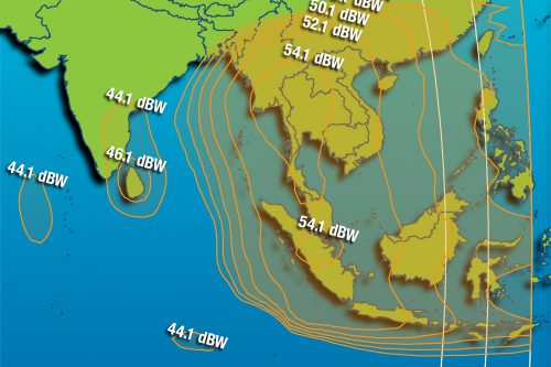 Intelsat IS-12 South-East Asia beam