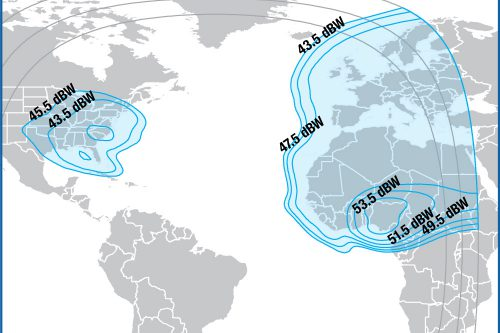 Intelsat IS-14 Ku-band US, Europe & Africa beam