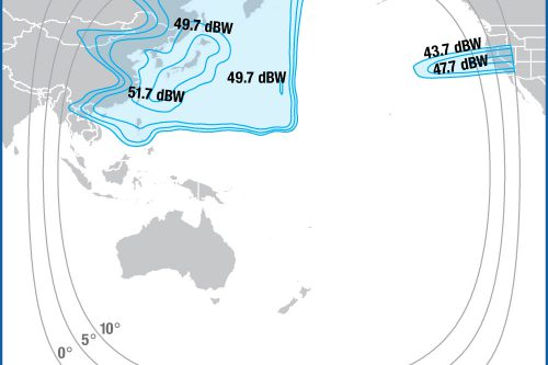 Intelsat IS-19 Ku-band North-West Pacific beam