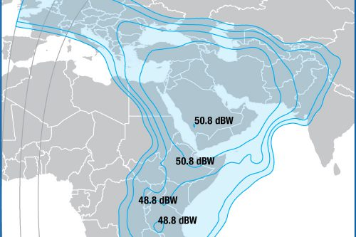 Intelsat IS-22 Ku-band Middle-East / Africa beam