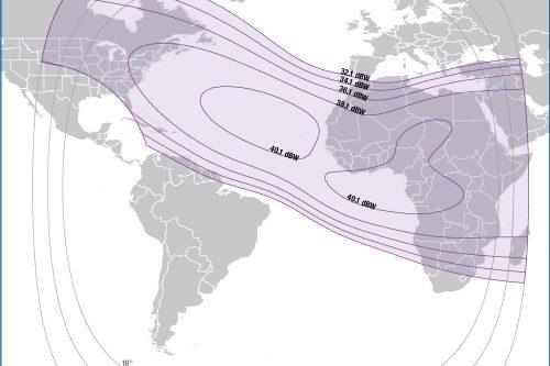 Intelsat IS-25 C-band Afric & USA beam