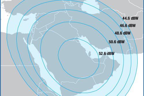 Intelsat IS-906 Ku-band Spot 1 beam