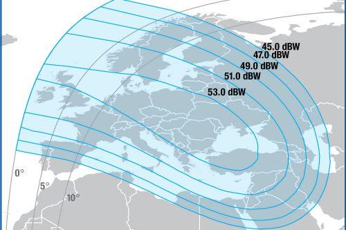 Intelsat IS-906 Ku-band Spot 2 beam