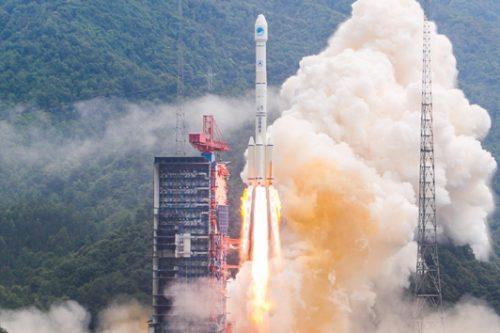 Long March 3B rocket launch