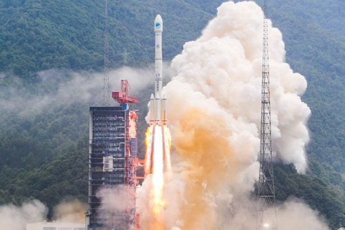 Palapa-D satellite launch