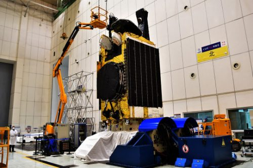 Palapa-D1 satellite under construction