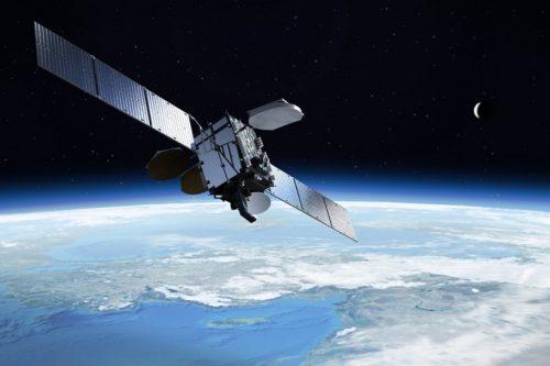Anik F1 satellite in orbit
