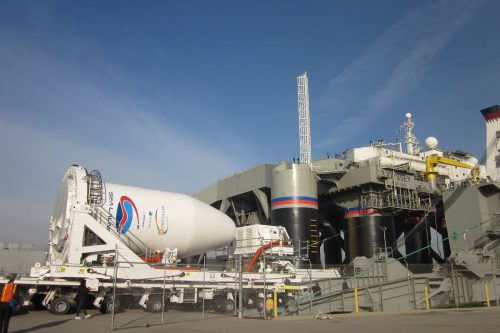 Sea Launch Roll Out Fairing with Intelsat-27