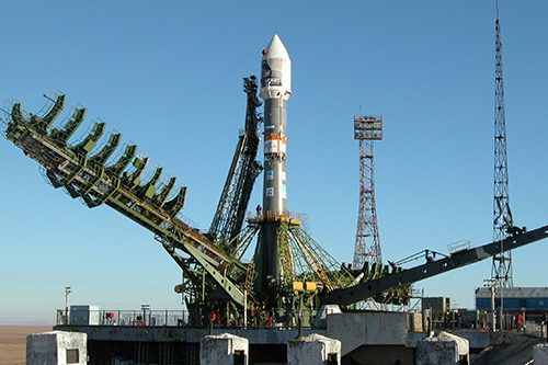 Soyuz-Fregat rocket ready for launch