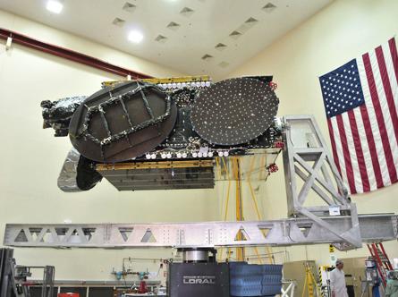 Telstar-14 satellite under construction