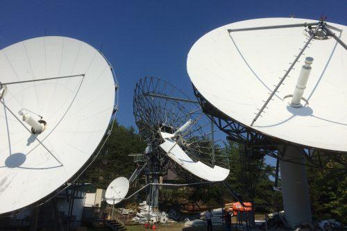 Vertex 16.4m antenna erected at Washington Teleport USA