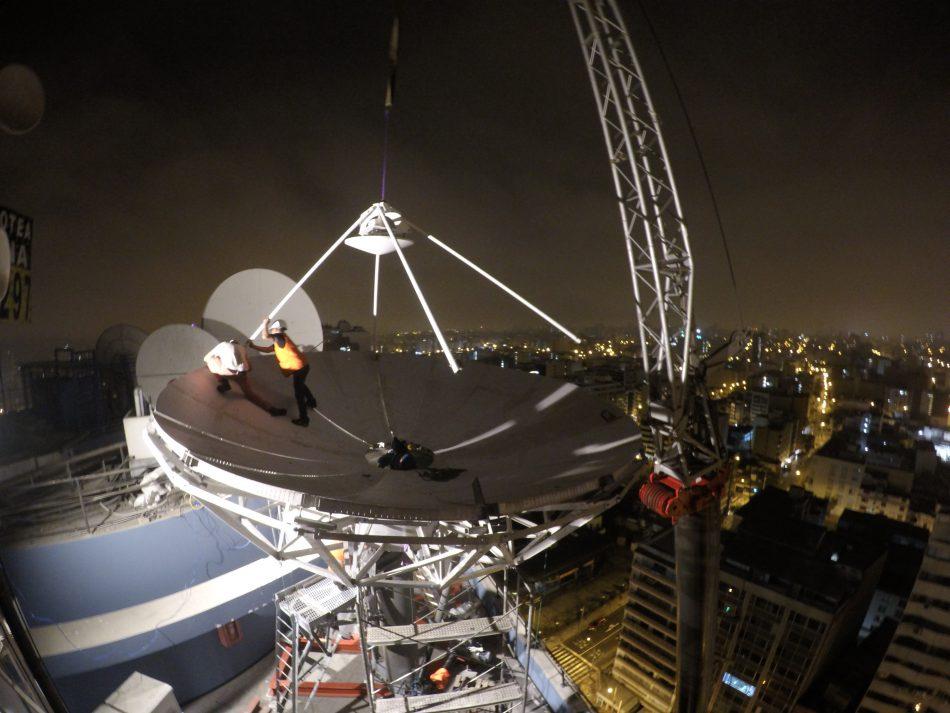 Vertex 6.1m Earth Station Antenna installation in Lima, Peru