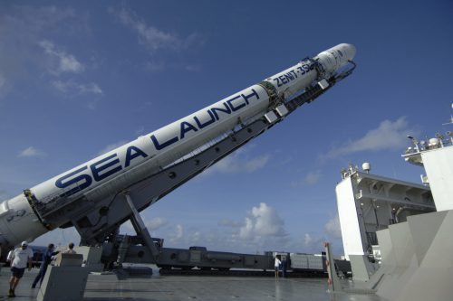 Zenit-3SL rocket on Sea Launch Odyssey