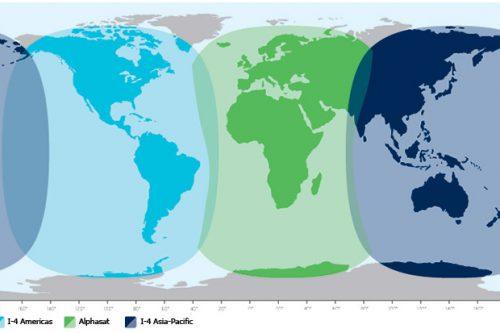 Alphasat satellite footprints