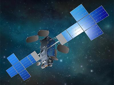 Anik F2 satellite in orbit