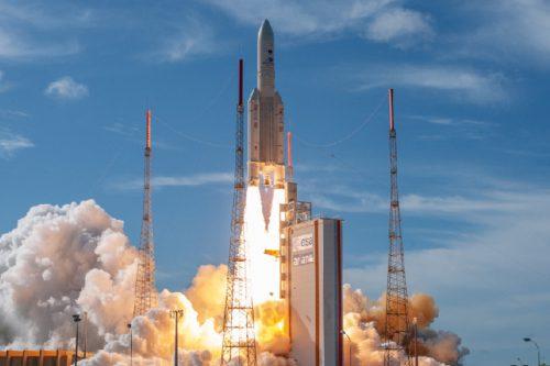Ariane 5ECA launching BSat-4b