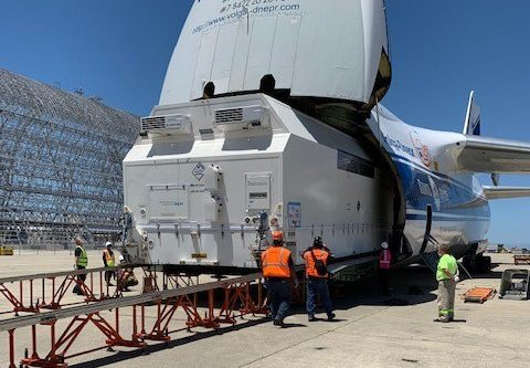 BSat-4a arrives at Arianespace