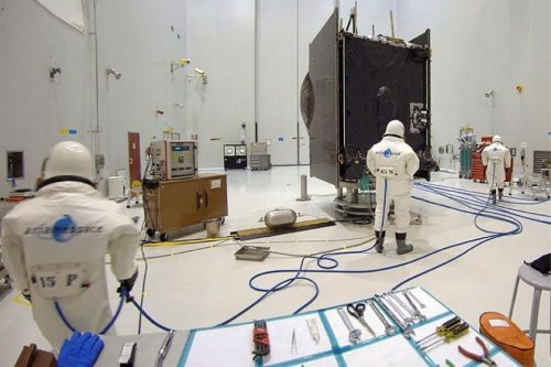 BSat satellite readied for launch at Arianespace
