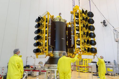 O3b satellite prepared at Arianespace