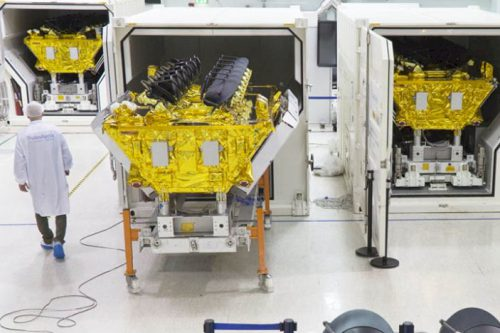 O3b satellites under construction