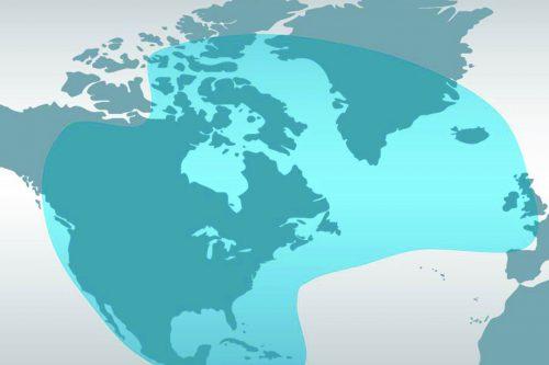 Viasat-2 satellite footprint