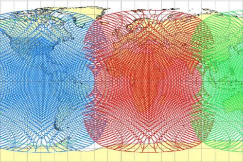 ViaSat-3 coverage map