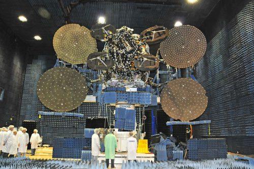 Viasat-3 satellite under construction